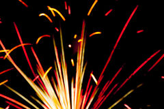 Firework in detail at night celebration background Royalty Free Stock Photos