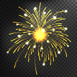 Firework different shapes colorful festive vector. Royalty Free Stock Photos