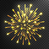 Firework different shapes colorful festive vector. Royalty Free Stock Photography