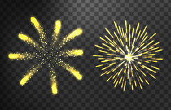 Firework different shapes colorful festive vector. Firework different shapes vector illustration. Colorful festive bright collage design brochures poster Royalty Free Stock Images