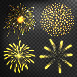 Firework different shapes colorful festive vector. Firework different shapes vector illustration. Colorful festive bright collage design brochures poster Stock Photos
