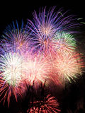 Firework display. Scenic view of firework display at night Royalty Free Stock Photo