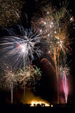 Firework Display on 5th November - England Royalty Free Stock Photos