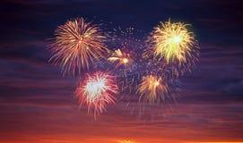 Firework display. Stock Photo