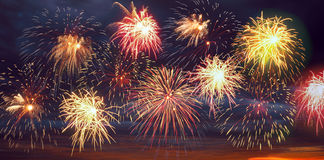 Firework display. Stock Photos