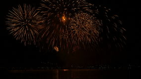 Firework display during a city holiday. Firework display - success concept, new year stock video footage