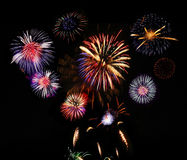 Firework display Stock Photo