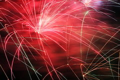 Firework display. Firework exploding from a pyrotechnic celebration display Stock Images