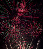Firework display with extended exposure Stock Photos