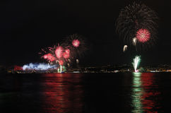 Firework display in Istanbul,Turkey Royalty Free Stock Images