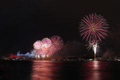 Firework display in Istanbul,Turkey Royalty Free Stock Photography