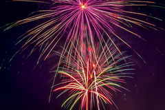 Firework display on July 4th holiday Royalty Free Stock Image