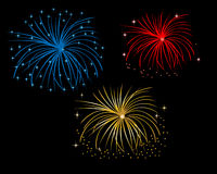 Firework display at night. Colorful firework display at night Royalty Free Stock Photo