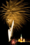 Firework display in Olsztyn  Royalty Free Stock Photos