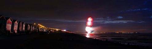 Firework Display Reflections Royalty Free Stock Photography