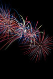 Firework Display. Time to celebrate the 4th of July and Americas Birthday Stock Images