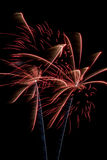Firework Display. Time to celebrate the 4th of July and Americas Birthday Stock Image