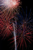 Firework Display. Time to celebrate the 4th of July and Americas Birthday royalty free stock photography
