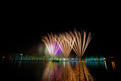 Firework displays and fireworks Royalty Free Stock Photography