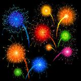 Firework. Easy to edit vector illustration of colorful firework Stock Photos