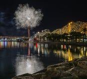Firework in Eilat - premier tourism resort in Israel Stock Photo