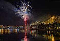 Firework in Eilat - premier tourism resort in Israel Stock Image
