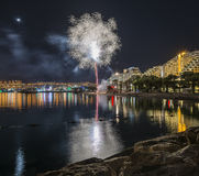 Firework in Eilat - premier tourism resort in Israel Stock Photography
