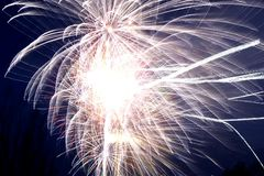 Firework exploding royalty free stock photography