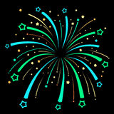 Firework Explosion design on black background Royalty Free Stock Photos