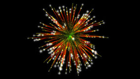 Firework explosion with sparks stock images