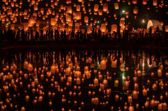 Firework Festival in Chiang Mai Stock Image