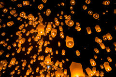 Firework Festival in Chiangmai Thailand Royalty Free Stock Image
