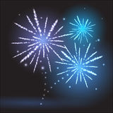 Firework. Festival holiday decorative abstract firework Royalty Free Stock Image