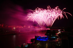 Firework at Festival Lent in Maribor Stock Photo