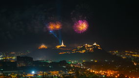 Firework festival in thailand stock footage