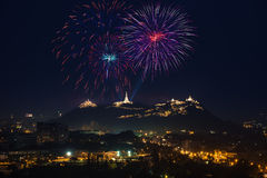 Firework festival in thailand Royalty Free Stock Photography