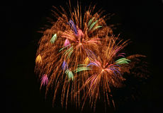 Firework / Feuerwerk. Basel - Silvester Firework, Night Shot, Colorful Stock Photo