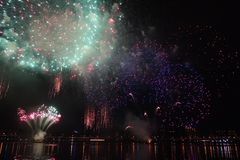 Firework. S bloom of the moment, is so colorful Stock Photos