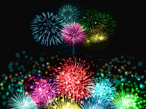 Firework. S color colour dot fire fantastic beautiful cerebrate night light lights Stock Photo