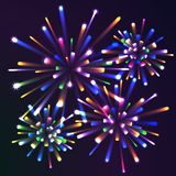 Firework. S at night different colors. eps10 Stock Photos