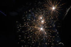 Firework. S on the sky on New Year stock images