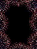 Firework flares frame Royalty Free Stock Photos