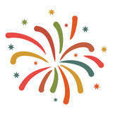 Firework flat icon Stock Photo