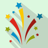 Firework flat icon. For web and mobile devices Stock Photo