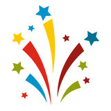 Firework flat icon. On white background Royalty Free Stock Image