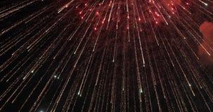 firework Fogo de artifício brilhante comemorativo em um céu noturno fotos de stock royalty free