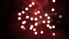 firework Fuoco d'artificio luminoso celebratorio in un cielo notturno Fuochi d'artificio nel cielo notturno di Mosca variopinto Fotografia Stock