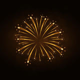 Firework gold isolated Royalty Free Stock Photography