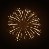 Firework gold isolated Stock Image