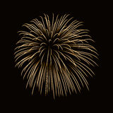 Firework gold isolated Royalty Free Stock Photo